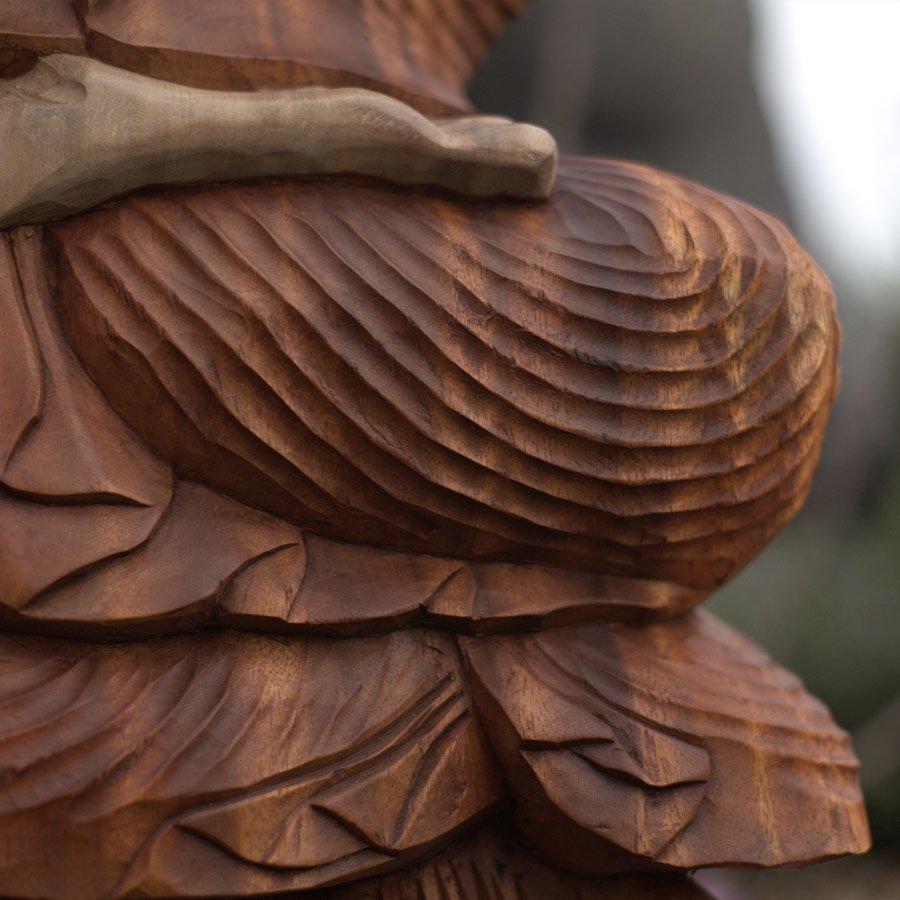 2310-12 Wooden Buddha