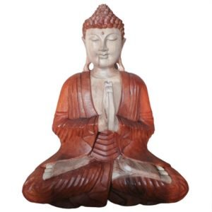 2312 Wooden Buddha Welcome