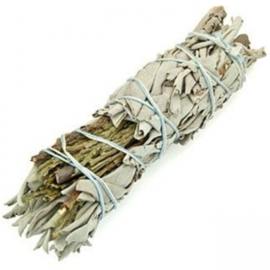 White Sage and Cedar Smudge Stick Large