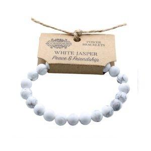 White Jasper Crystal Power Bracelet