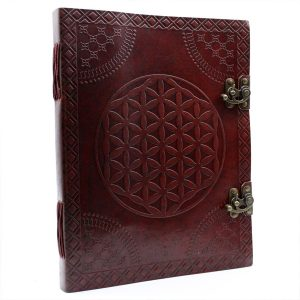 3210 Flower of Life Leather Notebook Large-