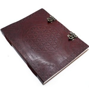 3210 Flower of Life Leather Notebook Large