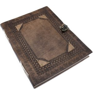 3211 Ornate Leather Notebook Large