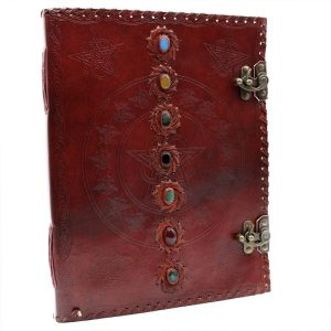 3212 Leather Chakra Notebook Large