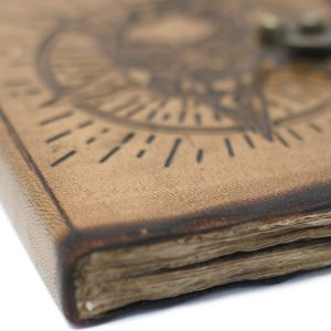 3213 Leather Pentagon and Skull Notebook