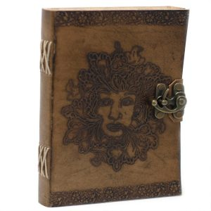 3216 Leather Greenman Notebook
